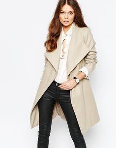 Image 1 of New Look Waterfall Belted Coat