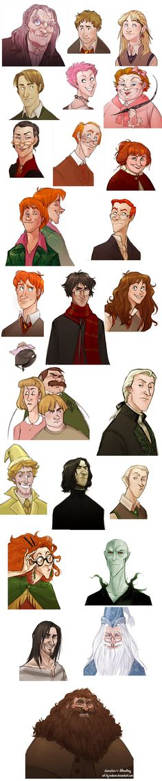 Some wonderfully reimagined Harry Potter characters