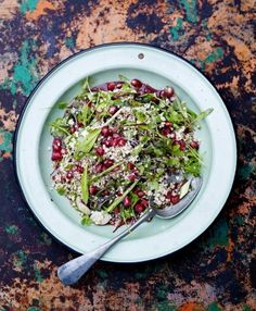 RECIPE:  http://www.jamieoliver.com/recipes/vegetables-recipes/herb-tabbouleh-with-pomegranate-za-atar-dressing/
