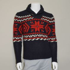 Polo Ralph Lauren Mens Snowflake Intarsia Holiday Sweater SMALL #PoloRalphLauren #Pullover