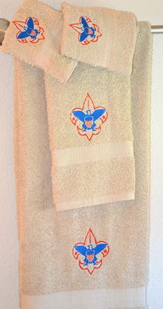 Boy scout towel setGift set by CustomCuteKids on Etsy, $40.00. Great thank you gift idea.