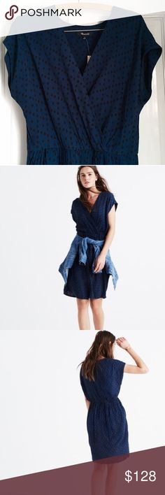 Madewell Wrapfront Mini Dress Super flattering wrap front and wrap skirt. Brand new with tags. Madewell Dresses