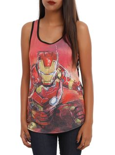 Iron Man vest top