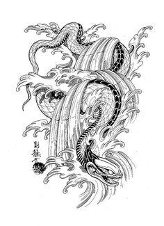 dragons, snakes, birds, https://vk.com/tattoo_maza #tattoo #эскизы для тату  #tattoo #maza_tattoo #эскизы татуировки