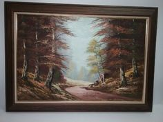 Oil painting of forest scene #OilPaintingForest