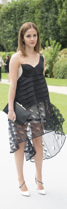 Emma Watson in Dior at Paris Haute Couture Fashion Week