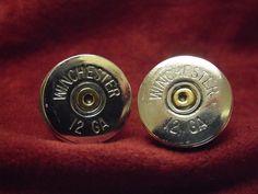 Shotgun Shell Cufflinks by AGothShop on Etsy, $25.00
