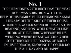 Hermiones 25th Birthday Headcanon Harry Potter, Harry Potter Feels, Harry Potter Ships, Harry Potter Hermione, Harry Potter Jokes, Harry Potter Universal, Harry Potter Fandom, Harry Potter World, Ron Weasley