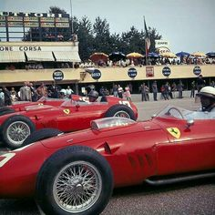 Monza F1 Grand Prix 1960 the  depart first line .