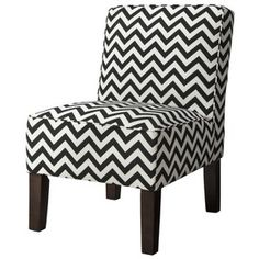 Target Mobile Site - Armless Upholstered Accent Slipper Chair - Black Chevron