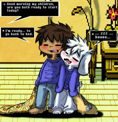Undertale: Frisk and Asriel's Greatest Challenge by Neloku.deviantart.com on @DeviantArt
