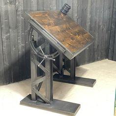 Welded Furniture, Handmade Furniture, Industrial Furniture, Rustic Furniture, Furniture Design, Diy Resin Wood Table, Diy Table, Welding Table, Diy Welding