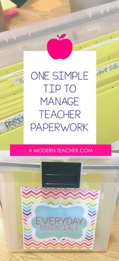 Organize Teacher Paperwork