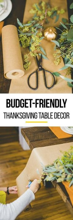 How to Set a Beautiful Thanksgiving Table on a Budget. Looking for ideas for setting a table or tablescapes for the upcoming holiday season? These decorations like a cheap and inexpensive runner will be perfect! Ideas for flowers, plates, and more decor!