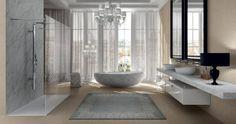 Modern Bathroom Design Trends Furniture Fixtures - Home Decor Design Bathroom Showrooms, Bathroom Renovations, Bathroom Ideas, Bathroom Design Luxury, Luxury Bathrooms, Modern Bathrooms, Small Bathrooms, Italian Bathroom, Modern Bathtub