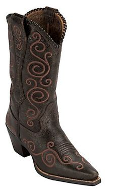 Ariat® Ladies Chocolate Brown Shelleen Swirl Embroidered Snip Toe Western Boots | Cavender's Boot City