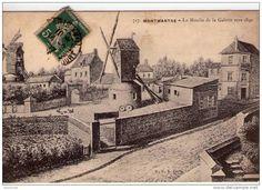 Moulin de la Galette vers 1840 - Montmartre