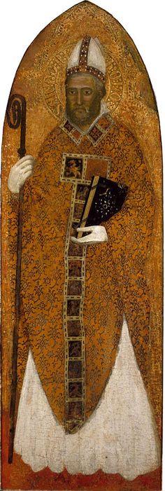 Andrea da Firenze - San Nicola di Bari - 1363-1367 - Museum of Fine Arts, Houston