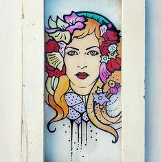 Lepota je važna. Ona nam daje nadu.  Beauty is important. It gives us hope. #urbisfloriana #Glasspainting #glassart #painting #recycledglass #slikarstvo #slika #belgrade #portraitart #fantasyportrait #madeinserbia