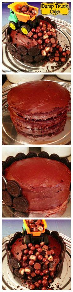 Easy Dump Truck Cake   Birthday Cake for boys