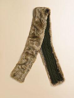 Ralph Lauren Girl's Faux Fur Scarf