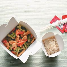 Thai Chicken Stir-Fry Recipe -Instead of having takeout at lunch, why not whip up this delicious meal? Thanks to the convenient frozen veggies, you can enjoy classic Thai flavors in minutes. —Sally Bailey, Wooster, Ohio