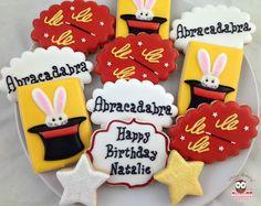 magic cookies, magician cookies, rabbit in hat cookies, abracadabra cookies