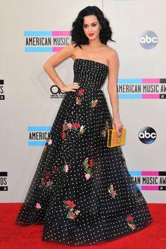 Katy Perry de Oscar de la Renta (SS 2014) en los American Music Awards 2013