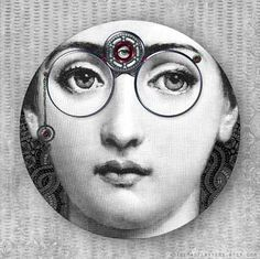 Steampunk Cavalieri melamine plate by TheMadPlatters on Etsy