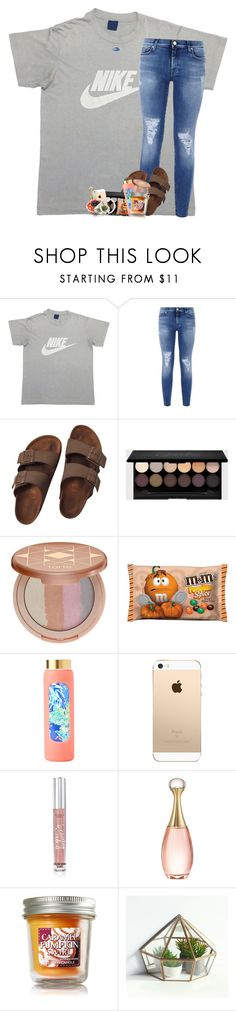 """friendly hack by emilyy"" by lindsaygreys ❤ liked on Polyvore featuring NIKE, 7 For All Mankind, Birkenstock, tarte, Lilly Pulitzer, Victoria's Secret, Christian Dior and Kendra Scott"