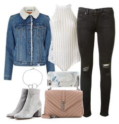 """""""Untitled #2181"""" by sarah-ihab ❤ liked on Polyvore featuring Levi's, EGREY, Gianvito Rossi, rag & bone, Yves Saint Laurent, Casetify and Chupi"""