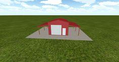 3D #architecture via @themuellerinc http://ift.tt/2fFuqGK #barn #workshop #greenhouse #garage #DIY