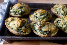 Twice-baked potatoes with kale. Delicious recipe. Used 1 c cooked kale (previously frozen), a bunch of scallion tops instead of a leek, and greek yogurt in place of sour cream.