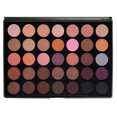Morphe Brushes 35 Warm Color Eyeshadow Palette- MAC and Makeup Geek quality but drugstore price! Beautiful shadows! And they are in Burbank!