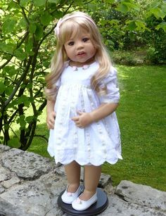 """Masterpiece Doll Sunday's Child Blonde 29"""" by Monika Levenig"""