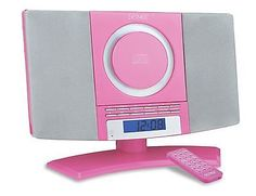Denver MC-5220 Pink Micro CD Player Aux-In Stereo Audio FM radio Alarm Clock