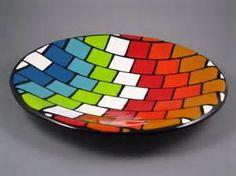 Custom Made Geometric Fused Glass Pieces