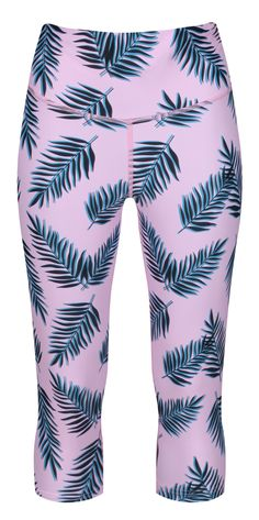 In a gorgeous light summer shade floating with palm leaves, our baby pink Paradiso Capris are a heavenly addition to your yoga kit!  Soft and gentle against your skin, these capris are super tough when it comes to performance and protection. The squat-proof LYCRA fabric has subtle compressing power to aid circulation and recovery and is resilient however intense your practise gets. Soft And Gentle, Yoga Capris, Squat, Heavenly, Recovery, Palm, Leaves, Kit, Fabric