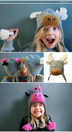 "Happy Yeti - We ♥ cool ""aniwooly"" hats for winter fun"