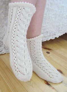 Vogue Knitting, Knitting Socks, Lace Socks, White Lace, Slippers, Projects, Fashion, Knitting Patterns, Books