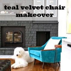 Reupholstered chair Dans le Lakehouse: The Velvet Chair is Done