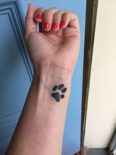 Paw tattoo of my own dog's print. ❤️