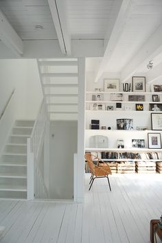 Living room and shelving