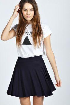 Selena Jersey Viscose Skater Skirt - Jupes - Vêtements Femme