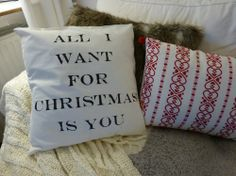 DIY pillow want for our bedroom for the holiday season
