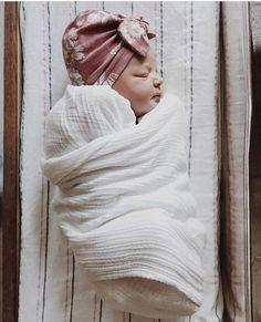 Antique Pink baby turban hat pink baby turban newborn hat