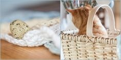 Herzenswärme Laundry Basket, Wicker, Picnic, Cats, Home Decor, Heart, Gatos, Decoration Home, Room Decor