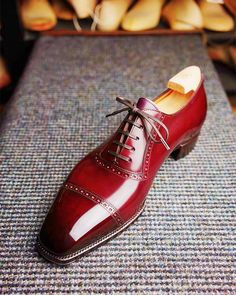 Leather Cap-Toe Lace-up Oxford Dress Shoes - Leather Cap-Toe Lace-up Oxford Dress Shoes - Ascot Shoes, Men's Shoes, Shoe Boots, Shoes Men, Your Shoes, Alligator Boots, Gentleman Shoes, Gentleman Style, Mens Fashion Shoes