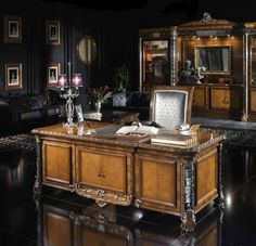 """Luxury Desk from """"Creating the Perfect Home Office: Choosing a Desk"""""""