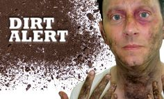 Creating dirt effects for film and TV - Make-Up Artist Magazine Sfx Makeup, Costume Makeup, Dystopia Rising, Alcohol Dispenser, Character Makeup, Special Effects Makeup, Taken For Granted, Makeup Sponge, Halloween Makeup